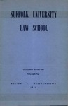 Suffolk University Law School Catalog, 1954-1955