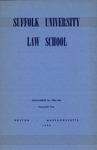 Suffolk University Law School Catalog, 1955-1956