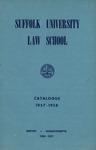 Suffolk University Law School Catalog, 1957-1958