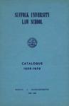 Suffolk University Law School Catalog, 1958-1959