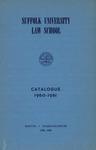 Suffolk University Law School Catalog, 1960-1961