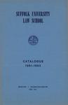 Suffolk University Law School Catalog, 1961-1962
