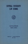 Suffolk University Law School Catalog, 1962-1963