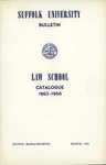 Suffolk University Law School Catalog, 1963-1964