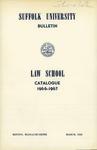 Suffolk University Law School Catalog, 1966-1967