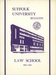 Suffolk University Law School Catalog, 1969-1970