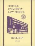 Suffolk University Law School Catalog, 1971-1972