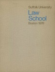 Suffolk University Law School Catalog, 1975-1976