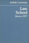 Suffolk University Law School Catalog, 1976-1977 by Suffolk University Law School