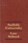 Suffolk University Law School Catalog, 1982-1983 by Suffolk University Law School