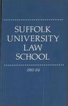 Suffolk University Law School Catalog, 1983-1984