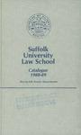 Suffolk University Law School Catalog, 1988-1989