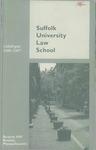 Suffolk University Law School Catalog, 1986-1987