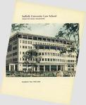 Suffolk University Law School Catalog, 1999-2000