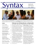 Syntax, Newsletter of the Suffolk University English Department, Issue 1, Fall 2017