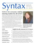 Syntax, Newsletter of the Suffolk University English Department, Issue 2, Spring 2018 by English Department