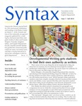 Syntax, Newsletter of the Suffolk University English Department, Issue 3, Fall 2018 by English Department
