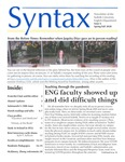 Syntax, Newsletter of the Suffolk University English Department, Issue 6, Spring/Fall 2020 by English Department